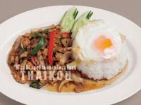 76.鶏肉のバジル炒めご飯(カイがパオラーカイ)