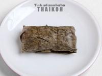 92.タイもち米のデザート (カオトムマット)